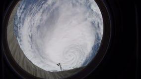 Cinemagraph för NASA 4K samling - orkan Ophelia ISS arkivfilmer