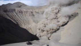Cinemagraph of Gunung Bromo Volcano Crater in Bromo Tengger Semeru National Park, East Java, Indonesia