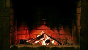 Cinemagraph pętla: Graba płonący ogień zbiory