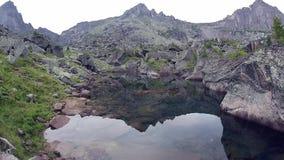 Cinemagraph Paesaggio del lago della foresta della montagna della natura di estate, al rallentatore archivi video