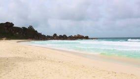 Cinemagraph of tropical coastline at La Dique, Seychelles stock video