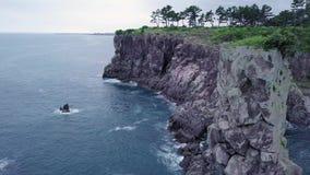 Cinemagraph von Oedolgae-Felsen in Jeju-Insel, Südkorea stock video