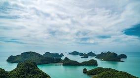 Cinemagraph von Timelapse von Tropeninseln bei Angthong nationale Marine Park in Thailand stock video