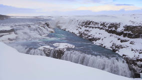 Cinemagraph, waterfall Gullfoss, Iceland stock video footage
