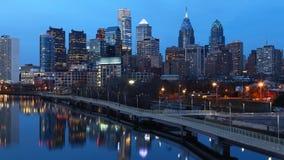 Cinemagraph, Zapętlający, noc Timelapse Filadelfia zbiory wideo