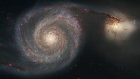 cinemagraphsamling för NASA 4K - galax för bubbelpool M51 med följet arkivfilmer