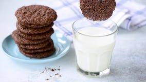 Cinemagraphy del latte e del biscotto archivi video