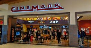 Cinemark filmteater royaltyfria bilder
