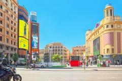 Cinemas Callao  Cines Callao  on Gran Via Street in Madrid,at. Madrid, Spain - June 05, 2017 : Cinemas Callao  Cines Callao  on Gran Via Street in Madrid,at day Royalty Free Stock Image