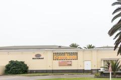 Cinemas in the Mermaid Casino and entertainment complex in Swako. SWAKOPMUND, NAMIBIA - JUNE 30, 2017: Cinemas in the Mermaid Casino and entertainment complex Royalty Free Stock Photography