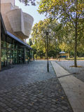 Cinematheque francaise in the Parc de Bercy, Paris, France. Exterior of the Cinematheque francaise in the Parc de Bercy, Paris, France, on a summer day Stock Photography