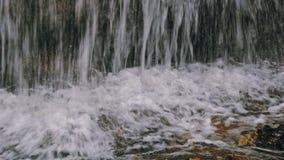 cinematic εικόνα κινηματογραφήσεων σε πρώτο πλάνο του καταρράκτη στη ζούγκλα τροπικών δασών στο εθνικό πάρκο Amboro, Βολιβία στοκ εικόνα