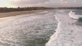Cinematic aerial footage of the Cathedral Rocks, Kiama. Australia stock video footage