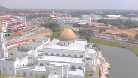 Kuantan, Pahang / Malaysia - August 28 2018 : Aerial View Mosque at IIUM International Islamic University Malaysia
