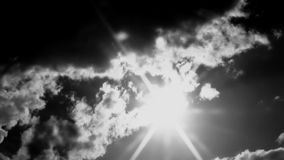 Cinematic Clouds Ans Sun Black & White stock video footage