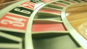 Cinematic effect roulette wheel stock footage