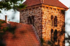 Cinematic image of the beautiful medieval church royalty free stock images