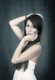 Cinematic lateral portrait Royalty Free Stock Photography