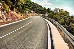 Cinematic road landscape. Vintage style. Instagram filter. Stock Photos