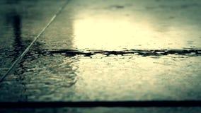 Cinematic shot of raindrops stock video
