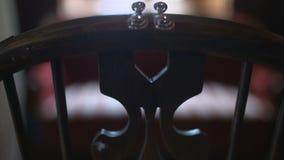 Cinematic shot of wedding rings. Wedding Rings. cinematic shot of wedding rings during ceremnony stock video footage