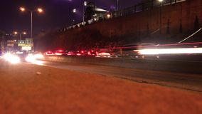 Cinematic time lapse of outbound traffic moving down a highway - ALT. 