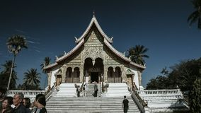 Cinematic timelapse of a buddhist temple in Laos stock footage