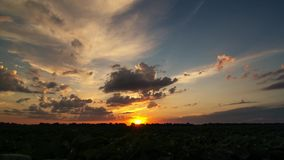 Cinematic timelapse of sunrise stock video footage