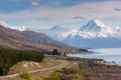 Cinematicweg om Cook, Nieuw Zeeland op te zetten Royalty-vrije Stock Foto