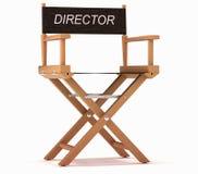 Cinematografia: os diretores presidem no branco imagens de stock royalty free