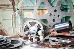 Cinematografia velha do equipamento da câmera Imagens de Stock Royalty Free