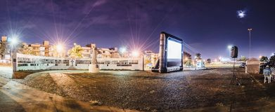 Cinematografie Autorama in Campo Grande - lidstaten in Praca do Papa Stock Afbeelding