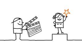 Cinematografo & la gente Fotografia Stock