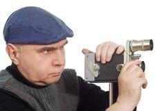 Cinematographer Camera retro Royalty Free Stock Photo