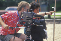 A cinematographer giving instructions Stock Image
