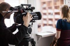 Cinematographer in hospital Stock Photos