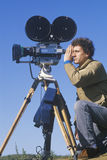 Cinematographer with Motion Picture camera Stock Photo