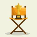 Cinematographic entertainment isolated icons. Illustration design Royalty Free Stock Photo
