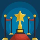Cinematographic entertainment isolated icons. Illustration design Stock Photos