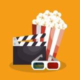 Cinematographic entertainment isolated icons. Illustration design Stock Photo