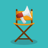 Cinematographic entertainment isolated icons. Illustration design Stock Images