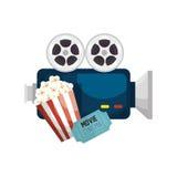 Cinematographic entertainment isolated icons. Illustration design Stock Photography