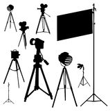 cinematographic illustrationset Arkivbild