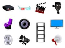 Cinematographic objects stock illustration
