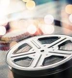 cinematographic rulle för begreppsfilmindustri Royaltyfri Bild