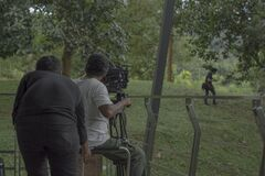 Cinematographic shooting from a movie production