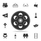 Cinematographic tape icon. Set of cinema  element icons. Premium quality graphic design. Signs and symbols collection icon for web. Sites, web design, mobile app Royalty Free Stock Images