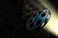 Cinematography. Light through the roll of 35mm film Royalty Free Stock Photo