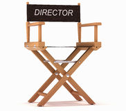 Cinematography: directors chair on white Royalty Free Stock Images