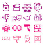 Cinematography flat Icons. Stock Photography